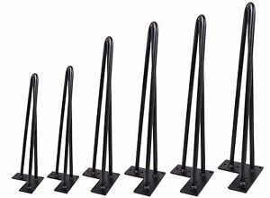 Black Hairpin Coffee Table Leg 1 2 Quot Solid Steel Diy 3 Rods