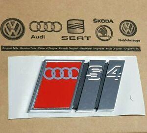 Audi-A4-original-S4-Logo-Clip-Schriftzug-Emblem-Aufkleber-hinten-B5-Heckklappe