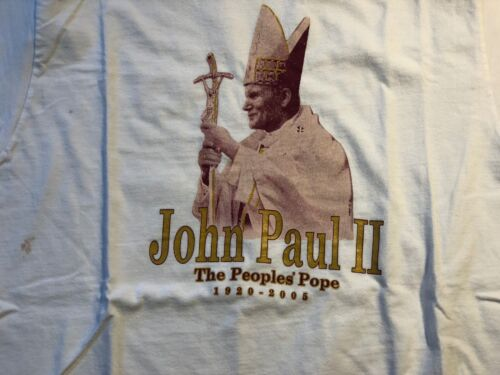 Vintage 1987-2005 OG Pope John Paul II Medium M U… - image 1