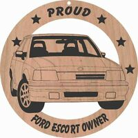 Ford Escort Wood Ornament Engraved