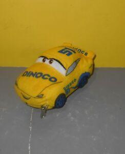Disney Cars Movie Dinoco 51 Cruz Ramirez Yellow Race Car Zippered