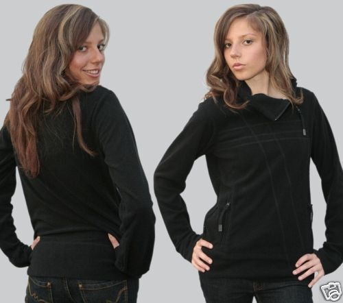 Ragwear Sweat Jacke Bat Fleece Gr: XS bis XL Sommerfleece 32-50 schwarz