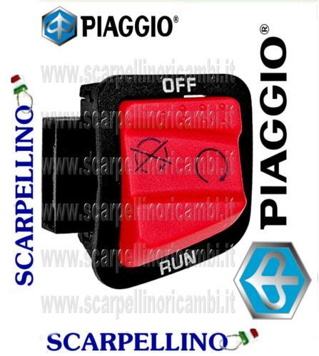 ENGINE STOP BUTTON PIAGGIO 641824 PULSANTE ARRESTO MOTORE PIAGGIO X9 250 cc