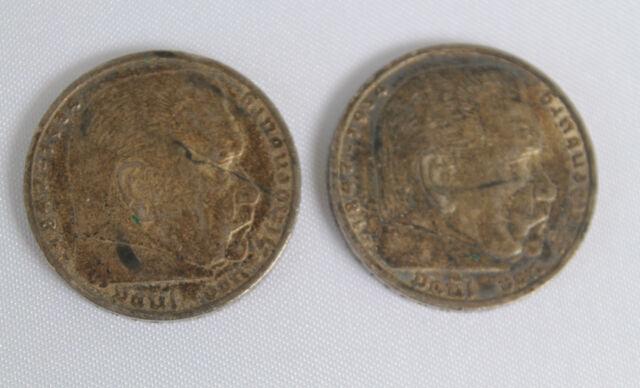 5 Reichs Mark Deutsches Reich 1936 Paul Von Hindenburg 1847 1934 A