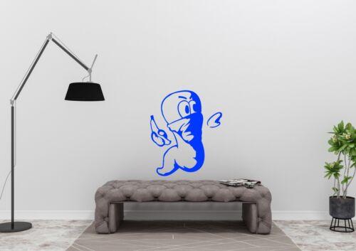 Banksy Style Worm Throwing Banana Design Gaming Wall Art Decal Vinyl Sticker