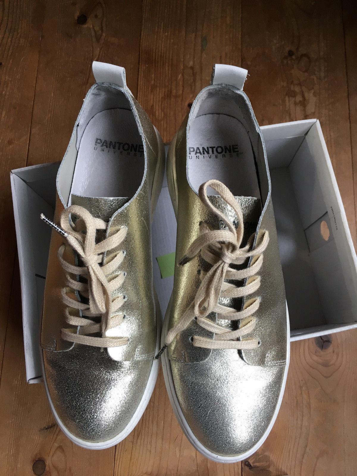 zapatilla zapatilla zapatilla de deporte loafers de Pantone Universe-Pale oro 40 cuero VP 150 euros 2a044f