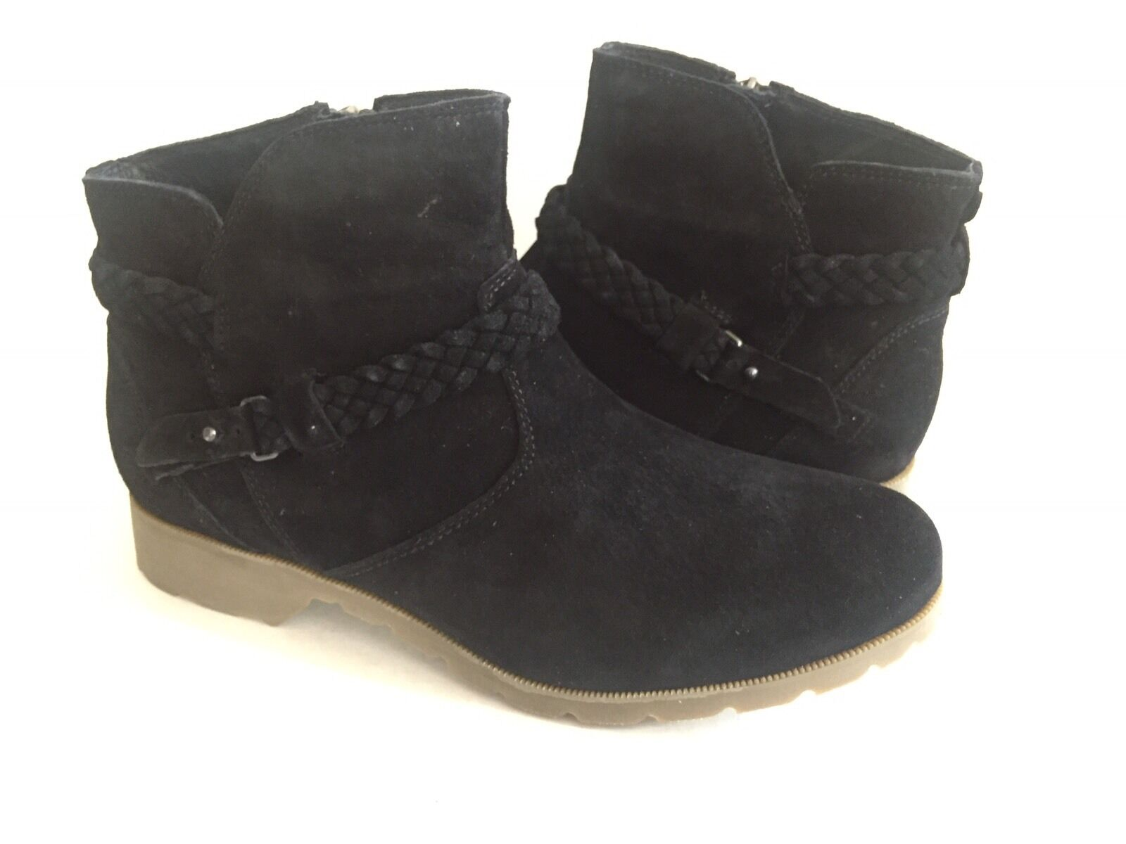 TEVA DE BLACK LA VINA WOMEN ANKLE BLACK DE SUEDE BOOT US 8.5 / EU 39.5 / UK 6.5 NIB 1c63fa