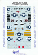 1/72 SuperScale Decals P-47D Thunderbolt Razorback 57th FG 353rd FG 72-878