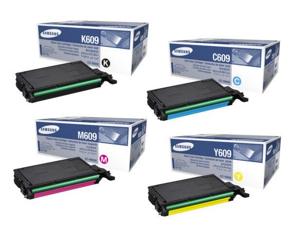 SET Samsung Genuine CLT-K609S CLT-C609S CLT-Y609S CLT-M609S For CLP770ND CLP775