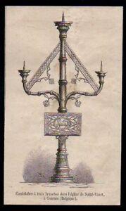 1880-CANDELABRE-A-TROIS-BRANCHES-DANS-L-EGLISE-DE-SAINT-VAAST-A-GAURAIN