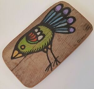 Small-Rustic-Bird-Painting-on-Reclaimed-Wood-Farmhouse-Country-Style-Folk-Art