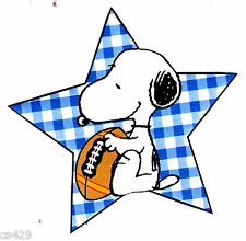 """4"""" BABY SNOOPY SPORTS FOOTBALL LITTLE CHAMP PREPASTED WALLPAPER BORDER CUT OUT"""