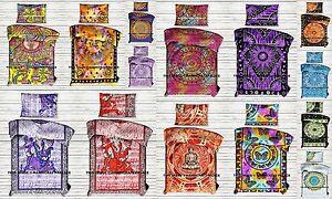 Indian-Hippie-Mandala-Duvet-Doona-Cover-Reversible-Quilt-Cover-Decor-Bedding-set