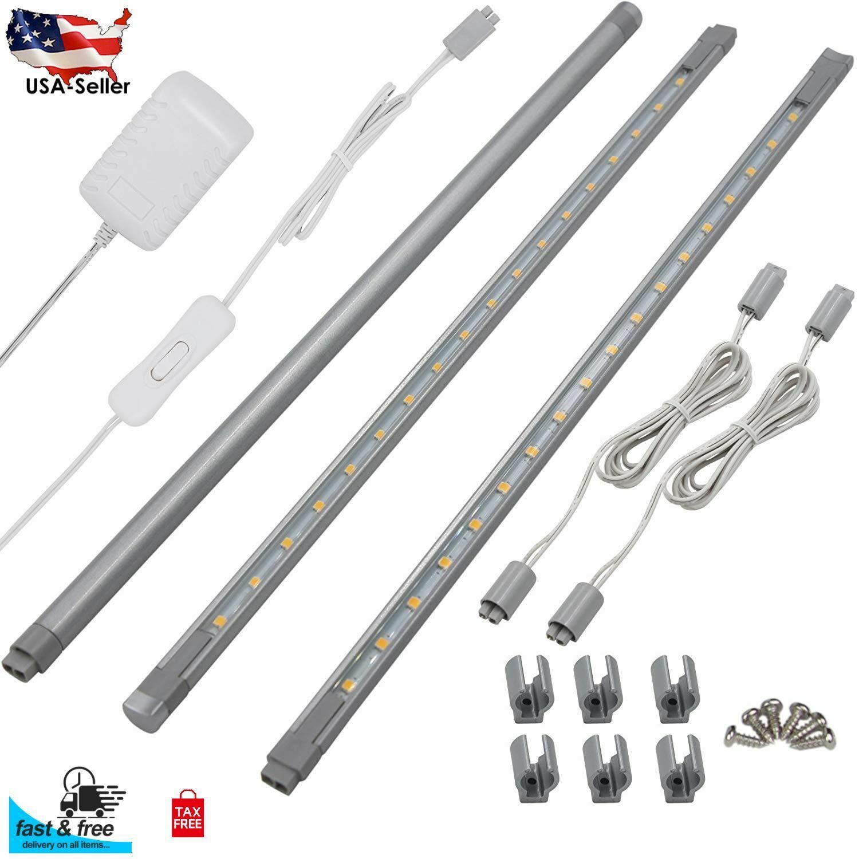 Led 15 Watt 12 Inch Linkable Undercabinet Strip Light: Kitchen Under Cabinet Shelves LED Lighting 3x 12