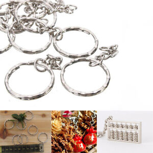 10-50-100PCS-Keyring-Blanks-Silver-Key-Chains-Findings-Jewelry-Making-Rings-Tool