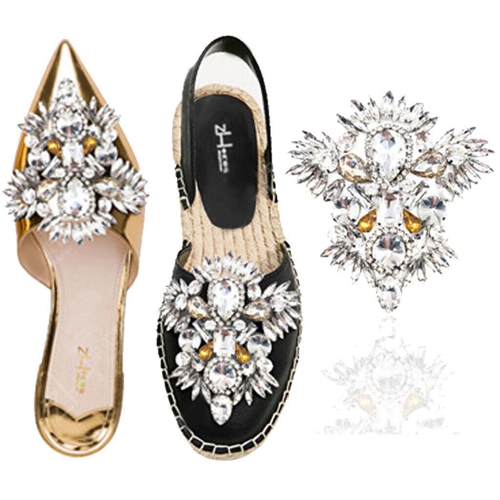 Sparkle Rhinestone Shoe Applique Boots Shoe Clip Charm Wedding Accessories