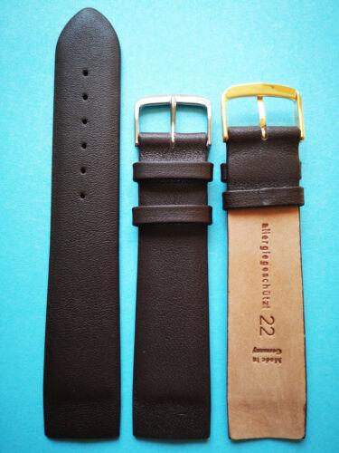 Uhrband für Skagen dunkelbraun zum Befestigen mit Schrauben 14 16 18 20 22mm