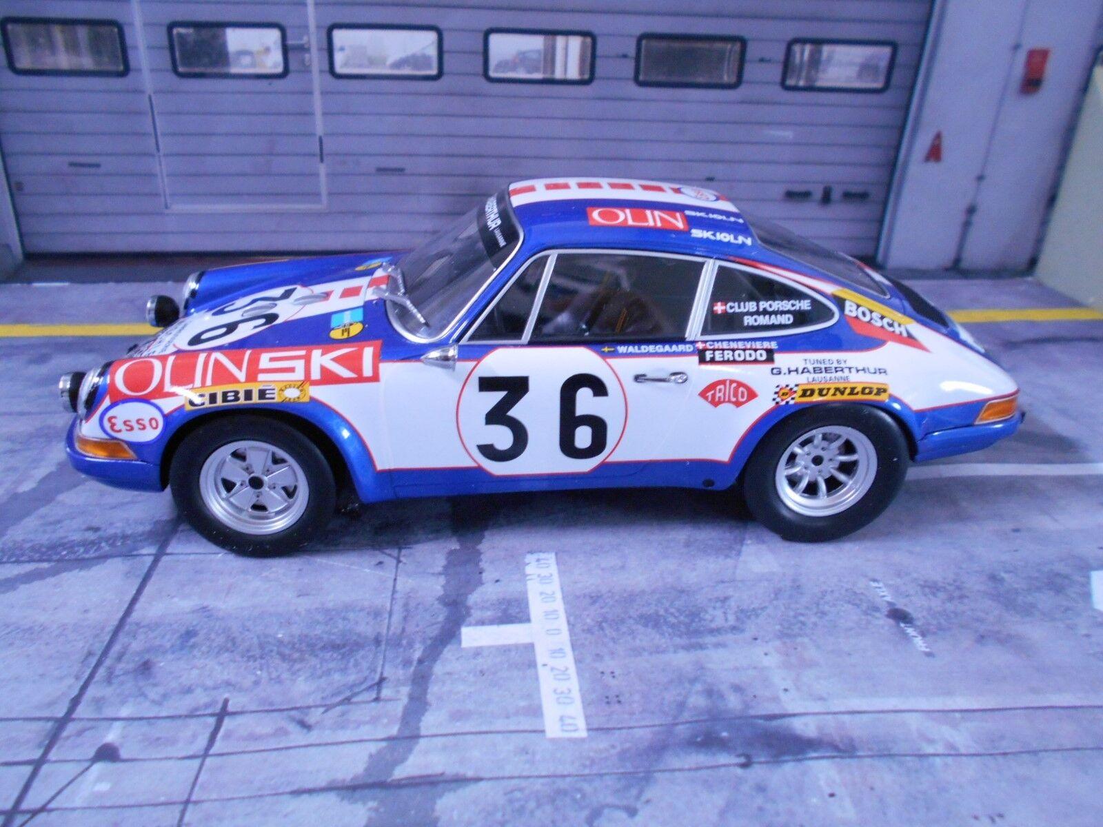PORSCHE 911 S Le Mans 1971 Waldegard Waldegard Waldegard Olin Ski J. Sage Minichamps Resin 1 18 e5d4e0