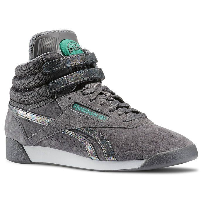 Reebok FS Freestyle Hi PUMP Co-UP Schuhe Sneaker FS Reebok High Fitnessschuhe Leder grau b20395