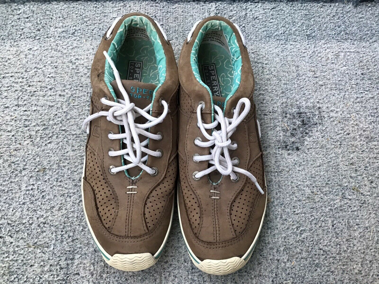 Sperry Top-sider Woman's Brown Leather Boat Shoes Size 6. #9529637.
