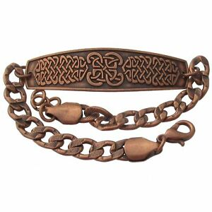Solid-Copper-Bracelet-Celtic-Handmade-Irish-Jewelry-Knot-Design-Knotwork-Symbol