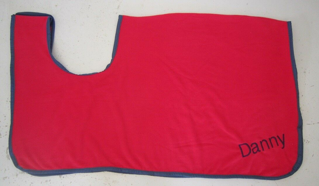 Horse Exercise or Quarter sheet FREE EMBROIDERYChoose your size REMOVABLE Red
