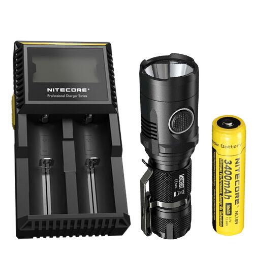 Combo Nitecore MH20GT Flashlight w// D2 Charger /& NL189 Battery
