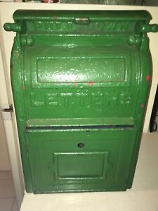 Charmant Image Is Loading ANTIQUE C1924 CAST IRON U S POST OFFICE MAILBOX