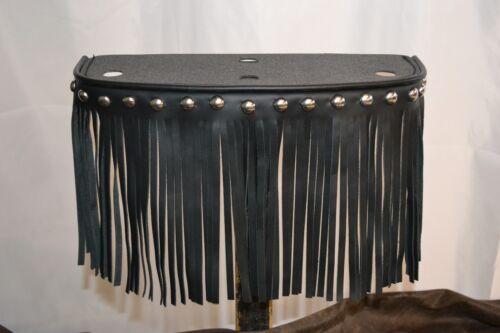 Handmade Single Tone American Leather Footboards w// Studs /& Fringe for Harley
