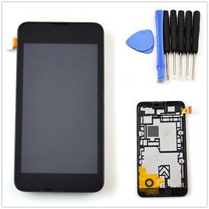 Neuf-Noir-Ecran-Complet-LCD-Tactile-Vitre-Assemble-Chassis-Pr-Nokia-Lumia-530