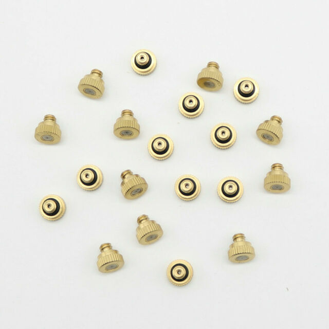 """20pcs Brass Misting Nozzles for Cooling System 0.012"""" (0.3 mm) 10/24 UNC Garden"""