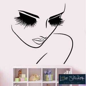 Wall Stickers Beauty Girl Bedroom Fashion Salon Art Decals Decor Vinyl Home Room Ebay