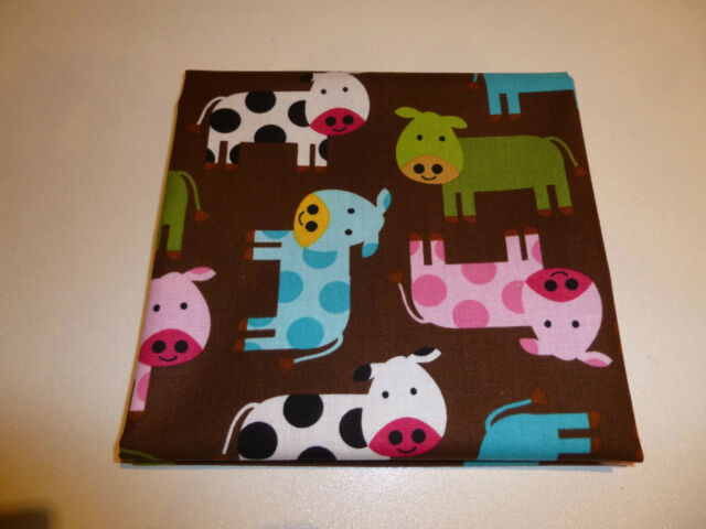 Robert Kaufman - Urban Zoologie Cows, 100% cotton fabric  - Fat Quarter