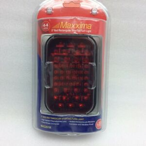 Maxxima-M42201R-Red-Stop-Turn-Tail-44-LED-Bright-Light-Camper-RV-Trailer-Truck