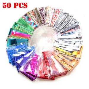 50Pcs-Foils-Finger-DIY-Nail-Art-Sticker-Decal-Water-Transfer-Stickers-Tips-Decor
