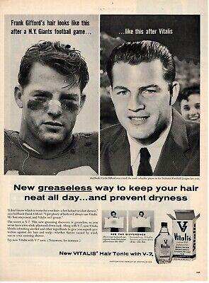 vitalis hair tonic vintage 1950 s original vintage vitalis hair tonic magazine ad