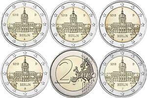 Allemagne 5 X 2 Euro Château Charlottenburg 2018 Garanti Avec Mzz A D F G J-afficher Le Titre D'origine Cg4jo1in-08005522-915323576