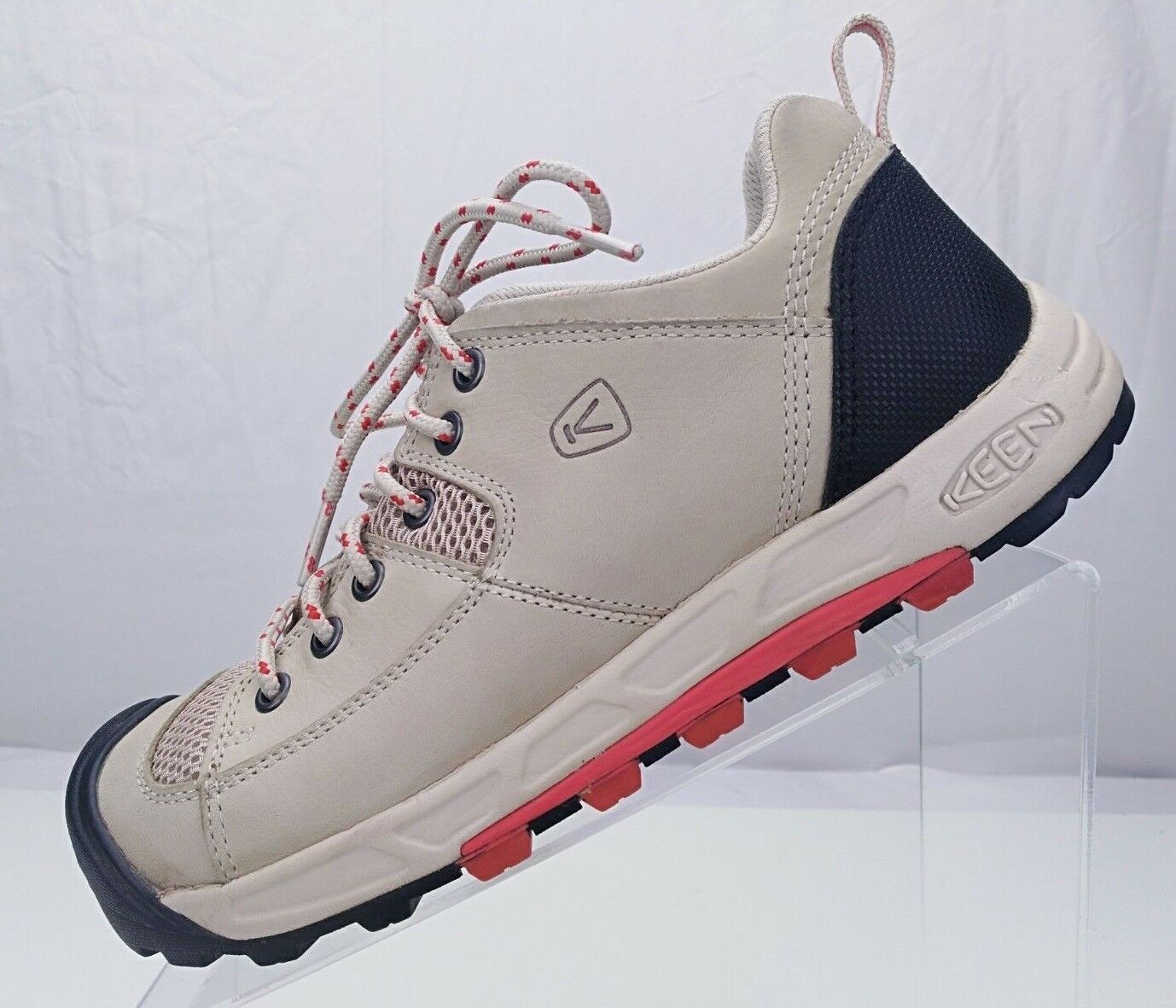 Keen Hiking Boots - Beige Lace Up Classic Trail Hiker Sneakers Women's Size 8
