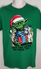 item 3 star wars yoda may the gifts be with you green christmas tee shirt m l nwt star wars yoda may the gifts be with you green christmas tee shirt m l