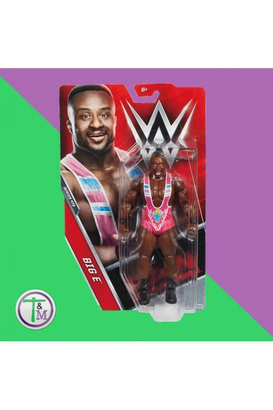 WWE BIG E THE NEW DAY PINK RAW MATTEL BASIC SERIES 73 WRESTLING FIGURE ACTION