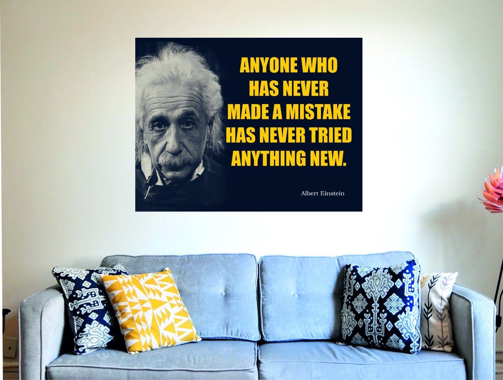 Albert Einstein quiconque Wall n'a jamais erreur Super Taille di Bond Wall quiconque art plaque 6b0515