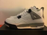 Nike Air Jordan 4 Retro OG Cement White/Fire Red-Tech Grey Grade School GS PS IV