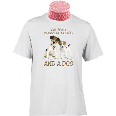 German Shepher New All You Need is Love and a Dog   T SHIRT A  DEAN RUSSO SHIRT