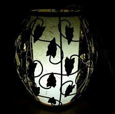 Vintage Leviton Art Nouveau Hanging Swag Metal Leaf Leaves Light Fixture Lamp
