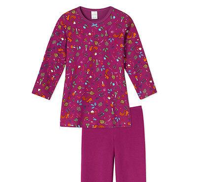 Schiesser Schlafanzug lang Mädchen Baumwolle NEU
