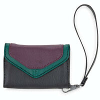Dakine Margot Womens Wristlet Iphone4 Wallet Plum Blocks Purple/black