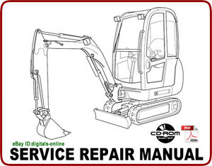 jcb 801 mini excavator service repair manual cd ebay rh ebay com jcb 801 parts manual jcb 801 manual