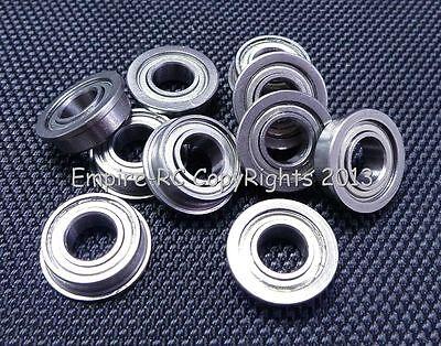(10 Stück) F687zz (7x14x5 Mm) Metallabschirmung Flansch Wälzkörper Laufwerke Jade Weiß