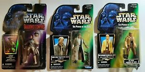 1996 Kenner Star Wars Power Of The Force Figures Luke/Leia/Han Solo NEW Sealed