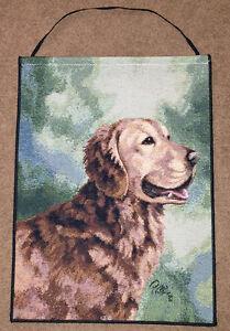 Golden-Retriever-Tapestry-Bannerette-Wall-Hanging-Artist-Linda-Picken